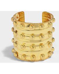 Sylvia Toledano - Byzance Cuff Bracelet In Gold-plated Brass - Lyst
