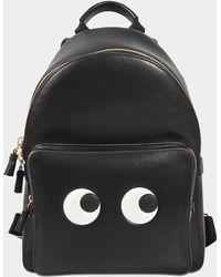 Anya Hindmarch - Mini Eyes Right Backpack In Black Calfskin - Lyst