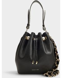 Mother Of Pearl - Bernie Bucket Bag In Black Calfskin - Lyst