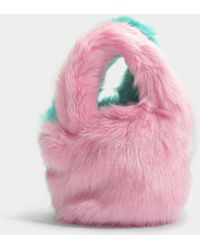 Charlotte Simone - Lil Pop Bag In Pastel Pink And Mint Green Acrylic - Lyst