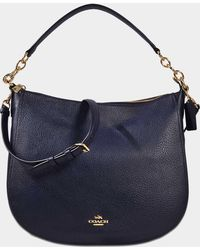 COACH - Chelsea 32 Hobo Bag In Navy Calfskin - Lyst
