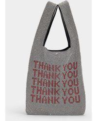 Alexander Wang - Wangloc Mini Shopper Bag In White Rhinestones And Mesh - Lyst
