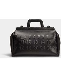 Maison Margiela Ghost Bag In Black Calfskin