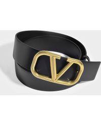 Valentino - Go Logo 40mm Leather Belt - Lyst
