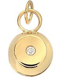 Aurelie Bidermann - Telemaque Bell Pendant 750/1000th Yellow Gold With Diamond - Lyst