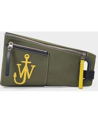 JW Anderson Sac Anchor Bum Bag en Toile Kaki - Vert
