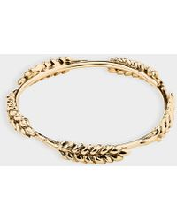 Aurelie Bidermann - Wheat Multi Cobs Bangle Bracelet In Gold Plated Brass - Lyst