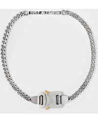 1017 ALYX 9SM Buckle Necklace In Silver Brass - Metallic