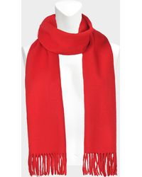 Eric Bompard - Classic Scarf In Rouge Gorge Cashmere - Lyst