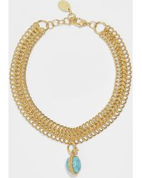 Sylvia Toledano - Turquoise Chain Choker Necklace - Lyst