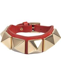 Valentino - Rocsktud Large Bracelet - Lyst