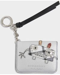 Burberry - Camberwellid Card Case In Silver Grained Calfskin - Lyst
