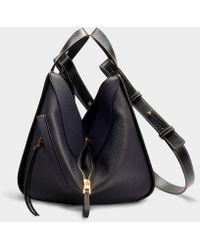 Loewe - Hammock Small Bag In Midnight Blue And Black Calfskin - Lyst