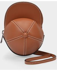 JW Anderson Nano Cap Bag In Pecan Cow Leather - Brown