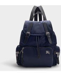 Burberry The Rucksack Medium Backpack In Ink Blue Nylon