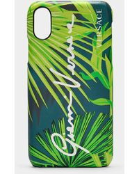Versace Coque de Téléphone en PVC Jungle - Vert