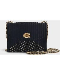 COACH - Parker 18 Shoulder Bag In Black Cotton - Lyst