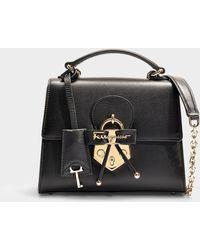 a60c05db097a Ferragamo Gelly Quilted Nappa Leather Shoulder Bag in Black - Lyst