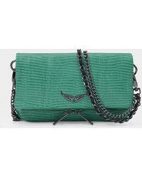 Zadig & Voltaire Tasche Rock Nano aus grünem Leder