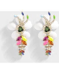 Shourouk - Exotica Neon Earrings In Multi Brass And Swarovski Crystals - Lyst