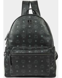 MCM - Stark Side Studs Medium Backpack In Black Synthetic Material - Lyst