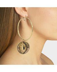 Roberto Cavalli - Hand And Eye Asymetrical Earrings - Lyst