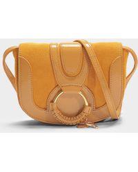417cebfb5777 See By Chloé - Hana Mini Patent Crossbody Bag In Yellow Calfskin - Lyst