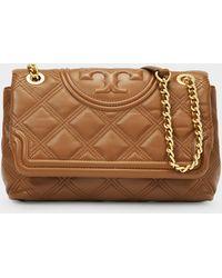 Tory Burch Fleming Soft Small Convertible Shoulder Bag - Natural