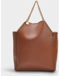 Stella McCartney Falabella Thin Chain Mini Tote In Cinnamon Eco Leather - Brown