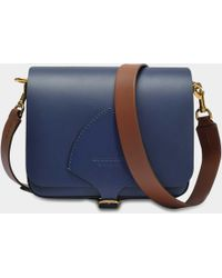 c2be7ad58106 Burberry - The Square Satchel Bag In Mid Indigo Soft Leather - Lyst