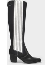 Ganni Boots Polido In Black Leather
