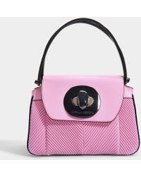 Giorgio Armani - Musa Bag In Pink Nappa Pleated Leather - Lyst 7397d6da21