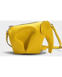 Loewe - Elephant Mini Bag In Yellow Calfskin - Lyst