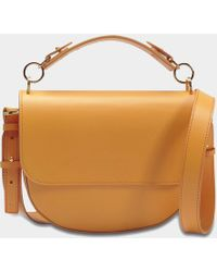 Sophie Hulme - Bow Medium Bag In Dark Butter Calf Leather - Lyst