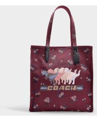 COACH - Shadow Rexy Tote In Wine Canvas - Lyst