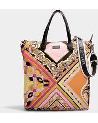 Emilio Pucci - Printed Tote In Multicolor Nylon - Lyst