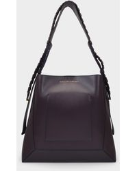 Stella McCartney Medium Hobo Eco Bag In Burgundy Synthetic Leather - Multicolour