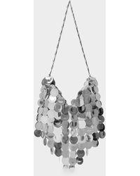 Paco Rabanne Handbag Sparkle Hobo In Silver - Metallic