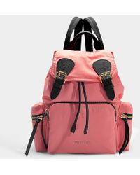 Burberry - Medium Prorsum Rucksack In Bright Coral Nylon - Lyst