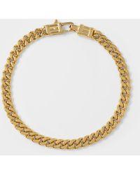 Tom Wood Bracelet Curb L en Argent Or Plaqué 9k - Métallisé