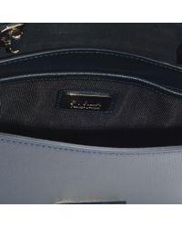 Furla - Metropolis Small Top Handle Bag In Blue Calfskin - Lyst