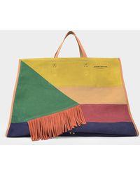 Jérôme Dreyfuss Leon Xl Bag In Multicoloured Suede - Multicolor