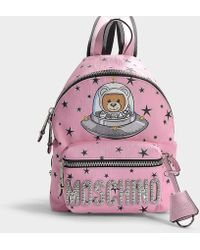 Moschino - Toy In The Space Backpack In Pink Synthetic Material - Lyst