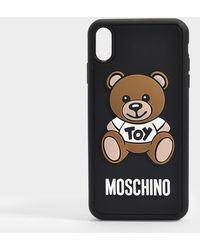 Moschino Teddy Iphone X Case In Black Pvc