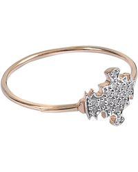 Ginette NY | Diamond Tanger Ring | Lyst