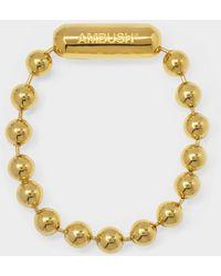 Ambush Ball Chain L Bracelet In Golden Silver - Metallic
