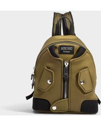 Moschino - Bomber Backpack In Khaki Synthetic Material - Lyst