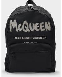 Alexander McQueen Metropolitan Backpack In Black Nylon