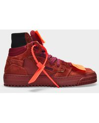 Off-White c/o Virgil Abloh Suede Off-court 3.0 Trainers - Red