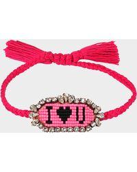 Shourouk I Love You Bracelet - Pink